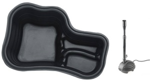 obrazek-Pontec Set plastové jezírko 150 l s fontánou