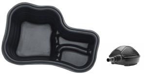 obrazek-Pontec Set plastové jezírko 150 l s jezírkovým čerpadlem - Doprava zdarma