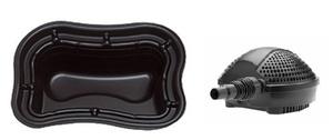 obrazek-Pontec Set plastové jezírko 500 l s jezírkovým čerpadlem