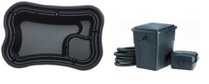 obrazek-Pontec Set plastové jezírko 750 l s filtračním setem