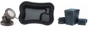 obrazek-Pontec Set plastové jezírko 750 l s filtračním setem a světlem  - Doprava zdarma