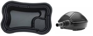 obrazek-Pontec Set plastové jezírko 750 l s jezírkovým čerpadlem  - Doprava zdarma