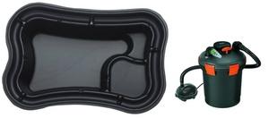 obrazek-Pontec Set plastové jezírko 750 l s tlakovou filtrací - Doprava zdarma