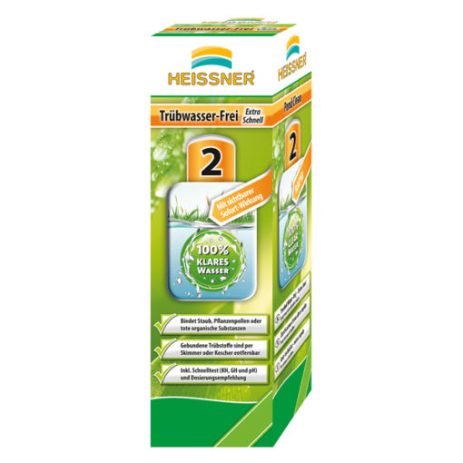 obrazek-Heissner  extra rychlý odstraňovač kalů z jezírka  250 ml